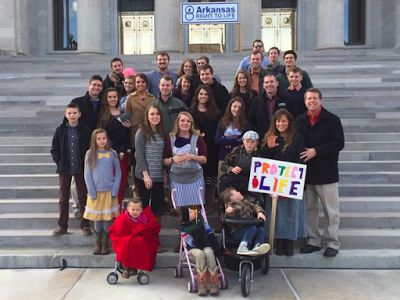 More than a dozen Duggars attended the March For Life in Little Rock, AR, this weekend.