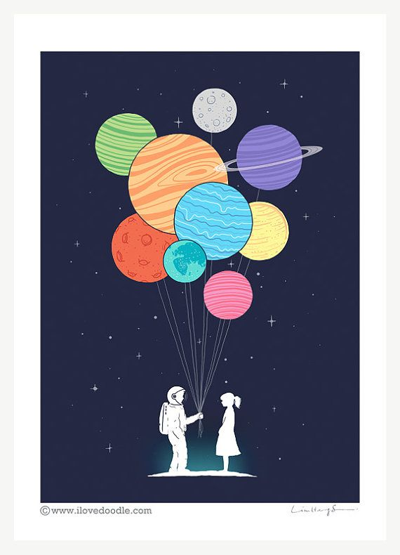 You are my universe Art Print by ilovedoodle on Etsy