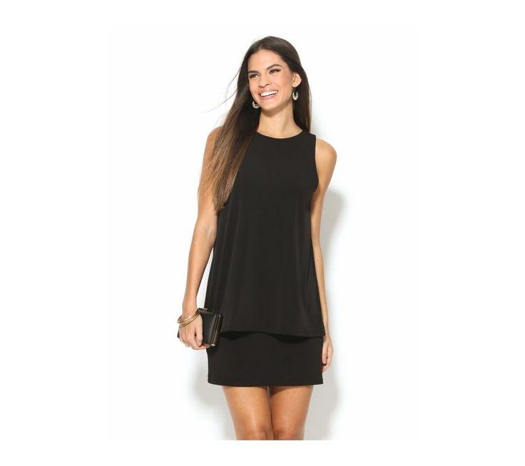 Jednobarevné šaty s efektem 2 v 1 | modino.cz