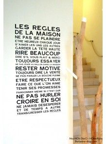 """Affiche en papier peint adhésif  """"Home rules"""""""