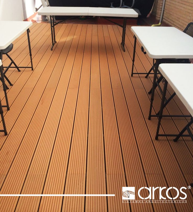 Deck de madera plastica #IdeasArkos #Decks #Bogota #colombia #palatino