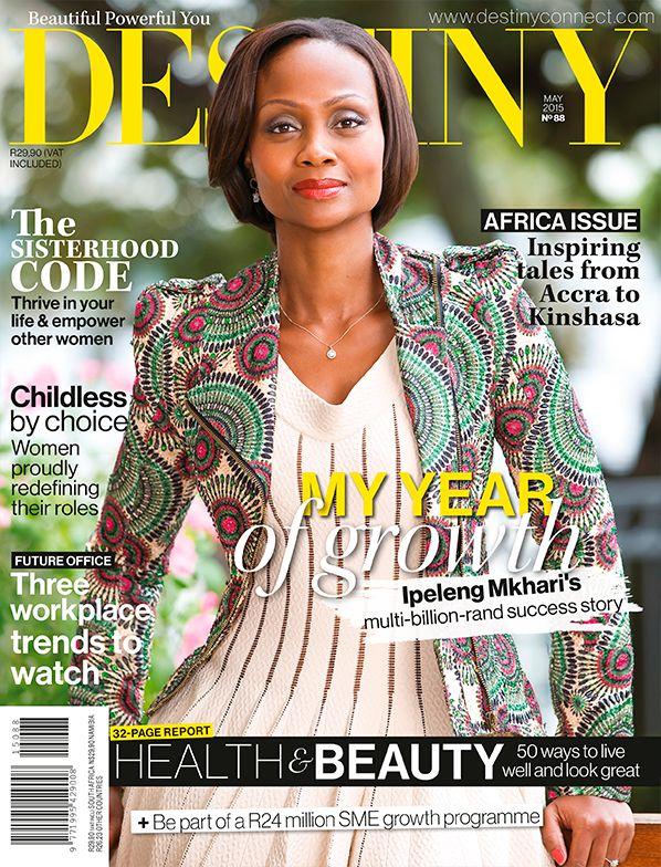 Ipeleng Mkhari, Destiny May 2015 Cover