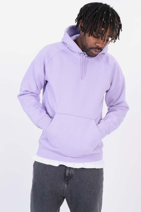 8cf1b3b9 CARHARTT WIP / Hooded chase sweat Soft lavender | Hoodies in 2019 ...