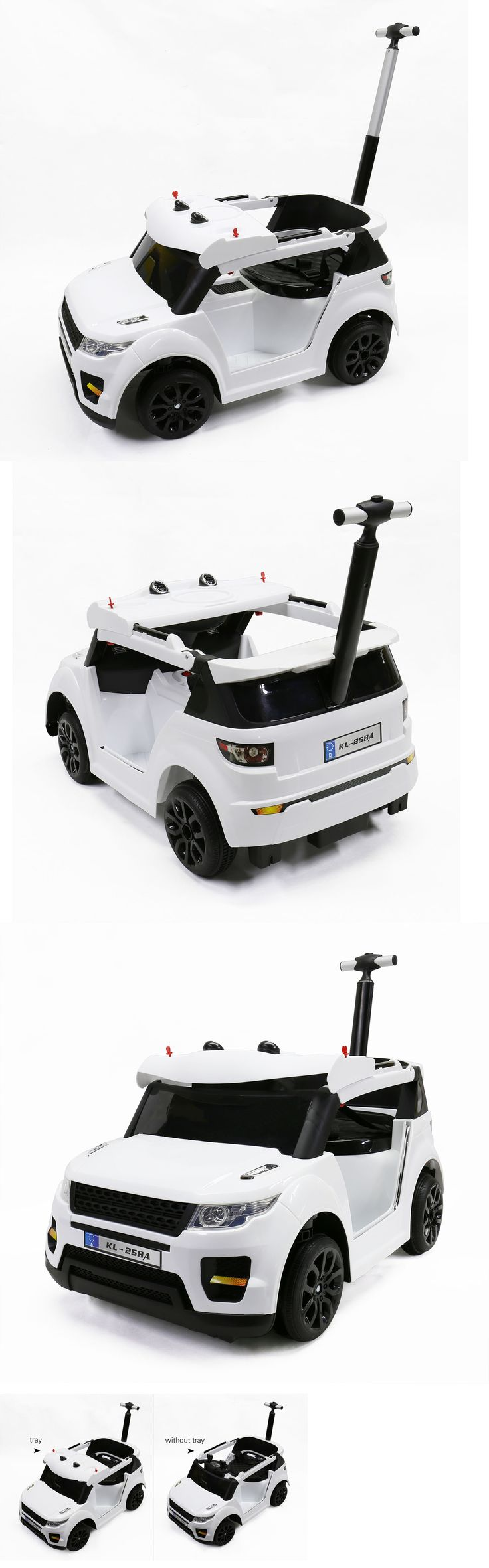 1970-Now 11746: Electric Power Wheels For Kids Rc Remote Control Battery With A Push Hand, White -> BUY IT NOW ONLY: $159.99 on eBay!
