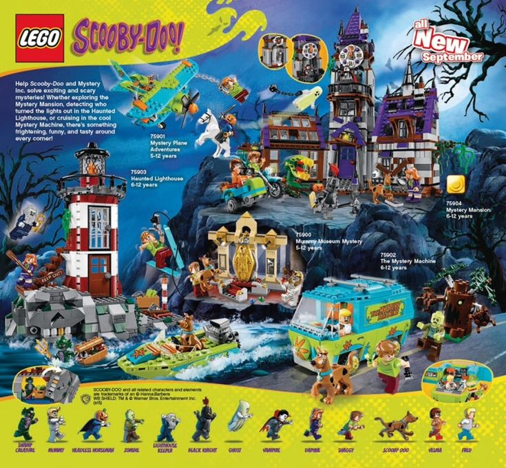 LEGO Scooby Doo - I really, really want these but I don't have anywhere to put them!!!