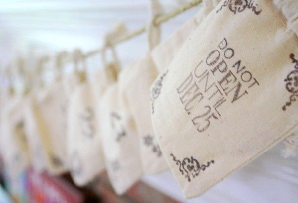 Advent Calendar Bags - Christmas Decor - Advent Bags - Rustic Chic