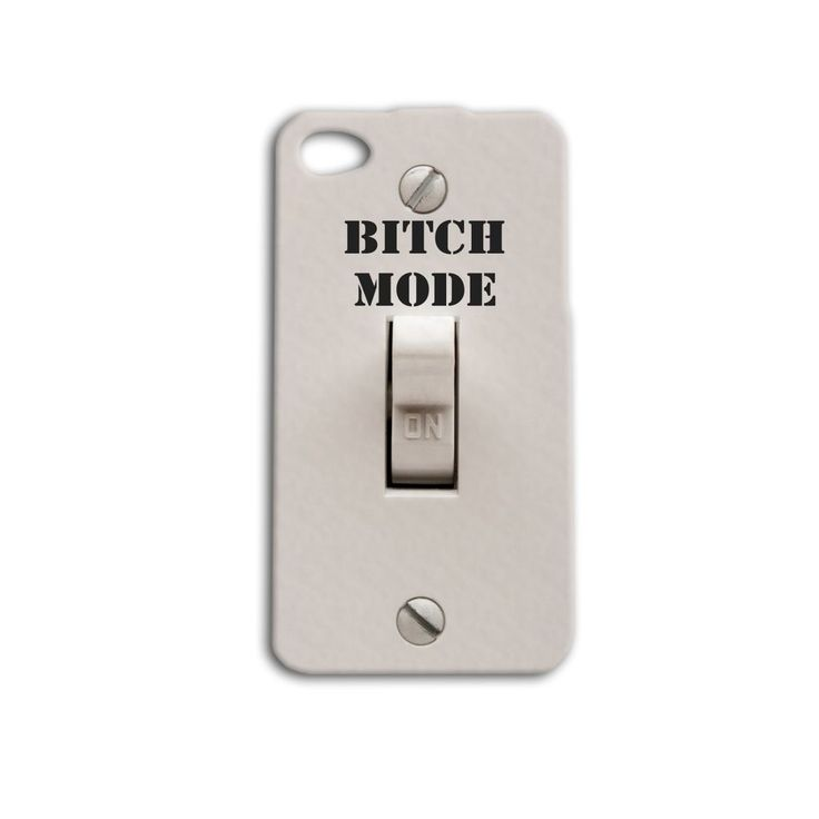 Funny Mode Light Switch iPhone Case Cute Quote Cell Phone Cover