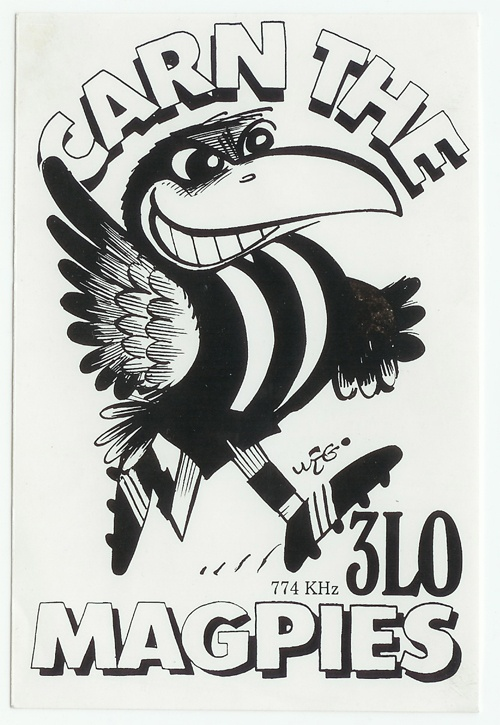 Weg sticker- Collingwood Magpies Football Club