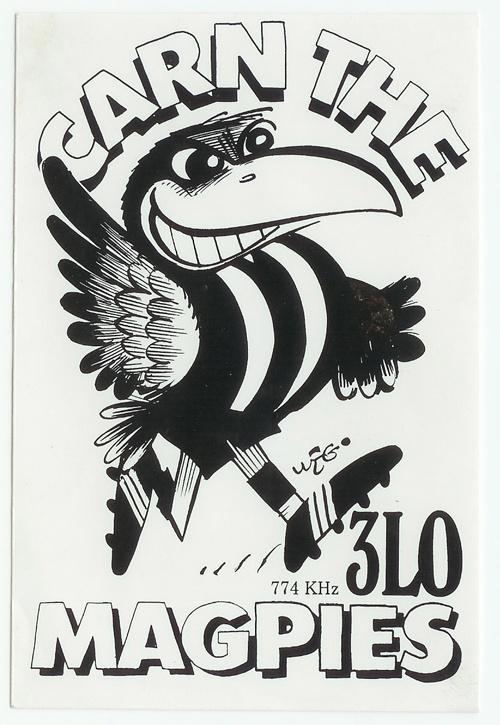 Weg sticker- Collingwood Magpies Football Club