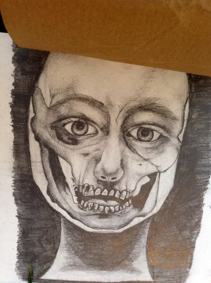 Artist study, pencil.