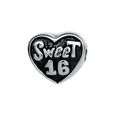 Sweet 16 Bead in Sterling Silver