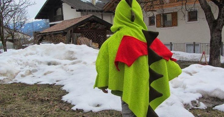 costume drago, costume carnevale, green dragon costume, costume drago tutorial, dinosauro