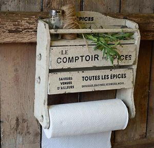 French Country Kitchen Rack, Paper Towel Holder, Spice Rack ...