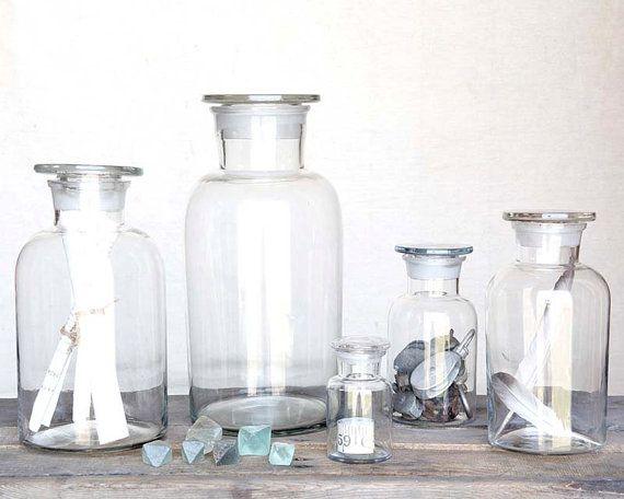 Pharmacy jar glass apothecary jar kitchen storage by dirtcouture