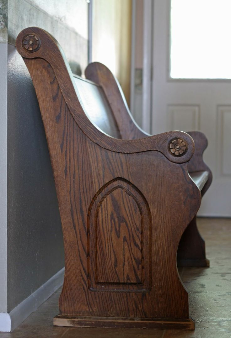 Church pew bench - looks exactly like mine!