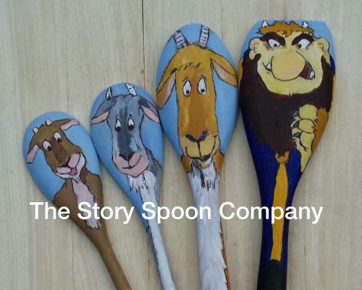 Story Spoons Puppets - Three Billy Goat Gruff