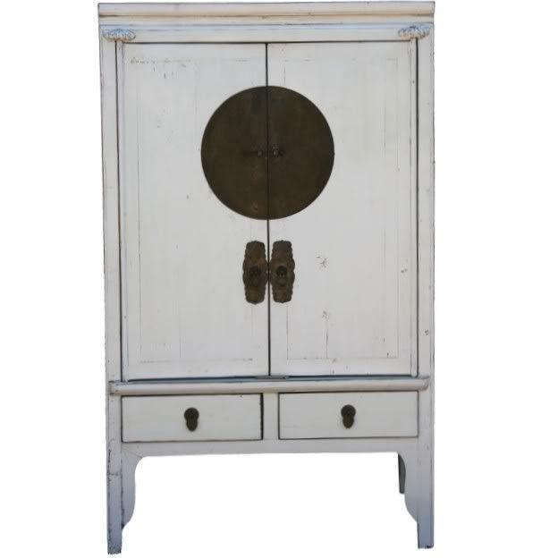White Chinese Wedding Cabinet Cabinets Large
