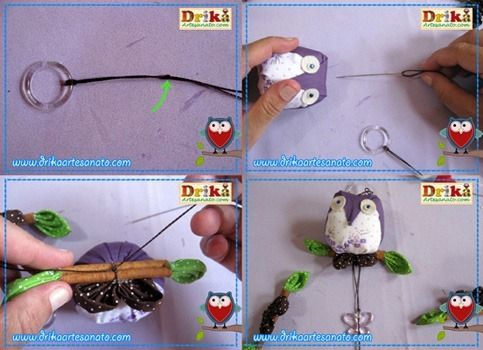 Passo a passo como fazer móbile de corujinhas