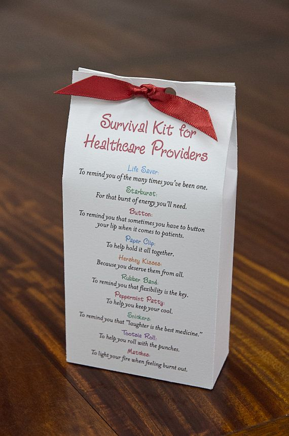 could totally DIY this - Survival Kit for Healthcare Providers Printable by pixiedustgifts, $4.50