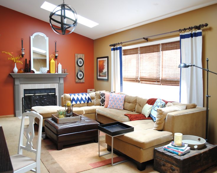 Orange Paint Colors For Living Room 41 best living room accent wall images on pinterest | painting