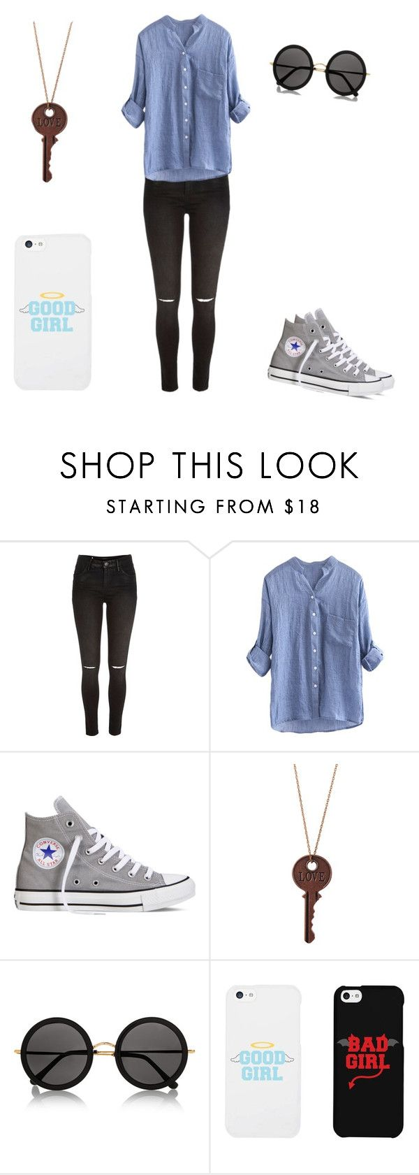 """Monday outfit"" by ryder-13 ❤ liked on Polyvore featuring River Island, Converse, The Row and LG"