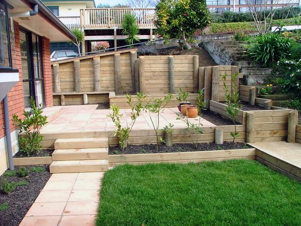 Retaining wall design Auckland Timber retaining wall Ponsonby