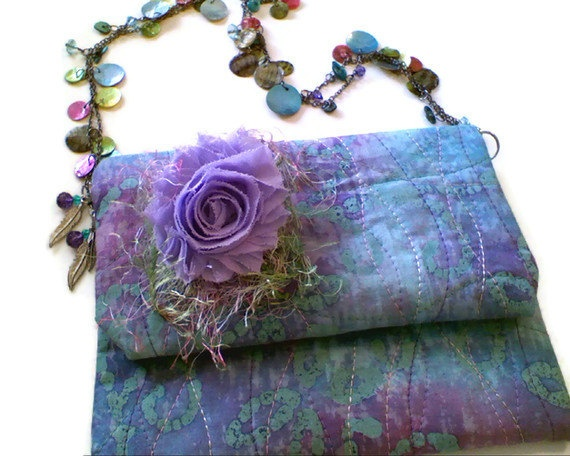 Qulted Batik Sea Foam in Shades of by tonilovesbuttons on Etsy, $48.99