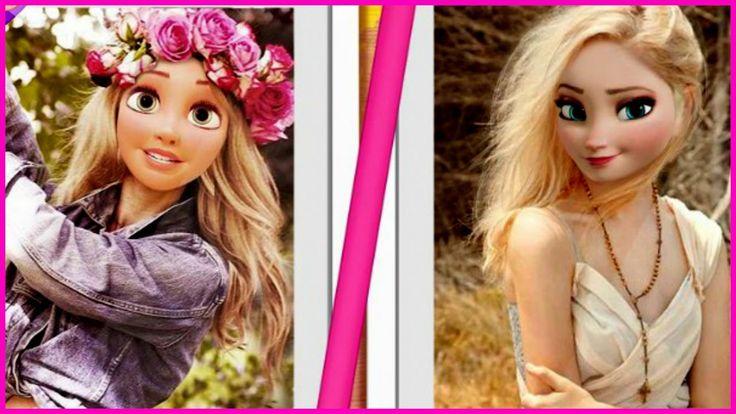 Elsa vs. Rapunzel Snapchat Rivals - Juegos de Disney princesas Elsa y Ra...