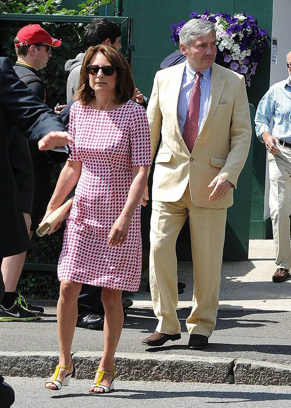 Carole middleton, style, fashion, wimbledon, michael, husband, figure, hair, kate middleton, royal box