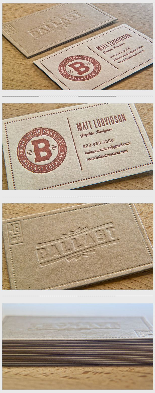 619 Best Letterpress Business Cards Images On Pinterest Business