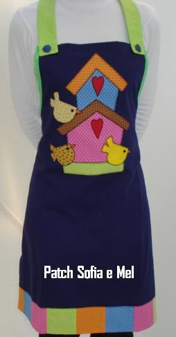 SO! Stylish! Colorful Inspiration Apron! Avental Casinhas de Passarinho by PATCH E CIA - Sofia e Mel, via Flickr