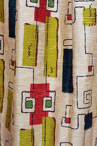 vintage fabric panels 120 x 80 $365 Reminds me of drapes we had when I was about 4or5... :)