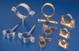 """Pipe Clamps  #PipeClamps  Pipe Clamps Brass Steel Pipe Hanger Clamps Pressed , Stamped and Cast Clamps / Saddles / Clip for Conduit and Plumbing Pipe Fitting from sizes 12 mm to 54 mm and 1/2"""" to 3""""."""