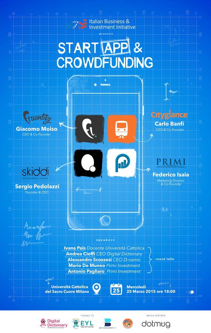 Il mondo del #crowdfunding sta crescendo insieme all'universo #startup. Facciamo il punto e iniziamo a creare quel movimento di innovazione, che sta mettendo radici anche in Italia. Noi saremo presenti come media partner e non solo. Join us! http://dotmug.net/2015/03/23/start-app-up-e-crowdfunding-ripartiamo-dallitalia/