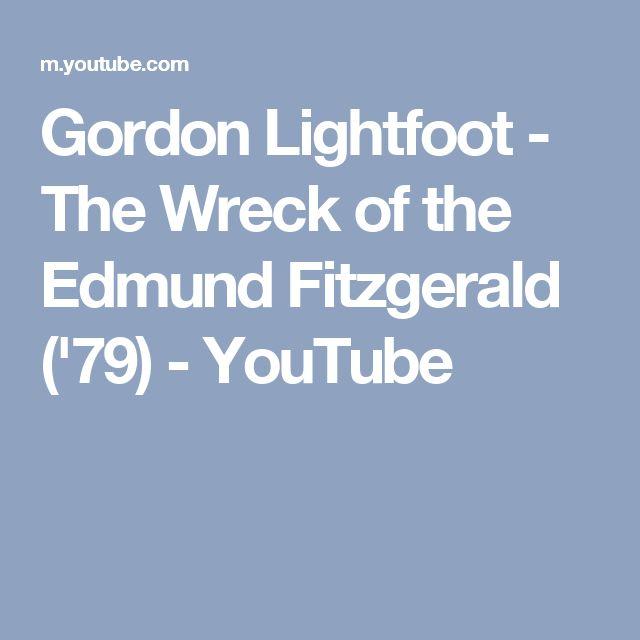Gordon Lightfoot - The Wreck of the Edmund Fitzgerald ('79) - YouTube