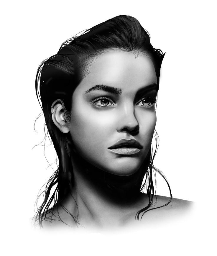 Barbara Palvin | Barbara palvin, Portrait, Illustration