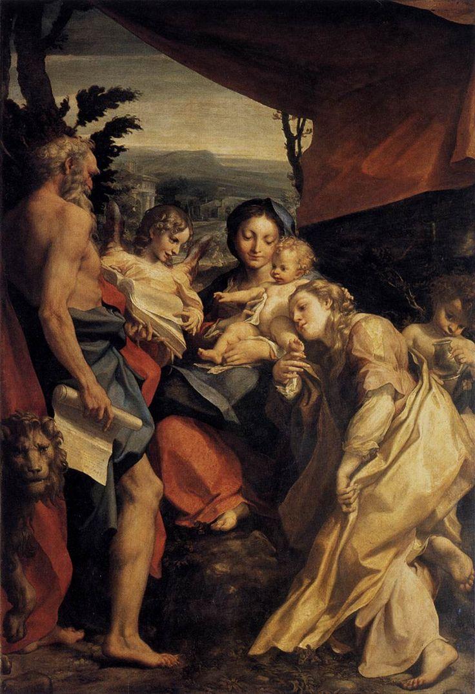 CORREGGIO- Madonna di San Girolamo (1526) Olio su tavola @Galleria Nazionale, Parma