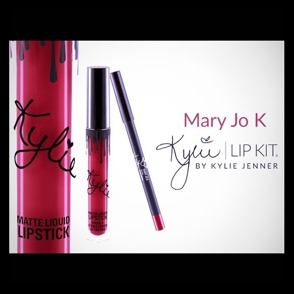 Mary Jo K Cherry Red Kylie Cosmetics Makeup Lipstick