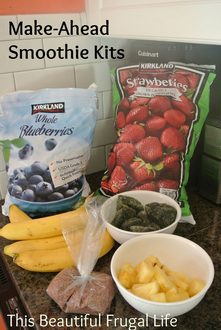 Smoothie Kits - great idea for a quick breakfast for the kids