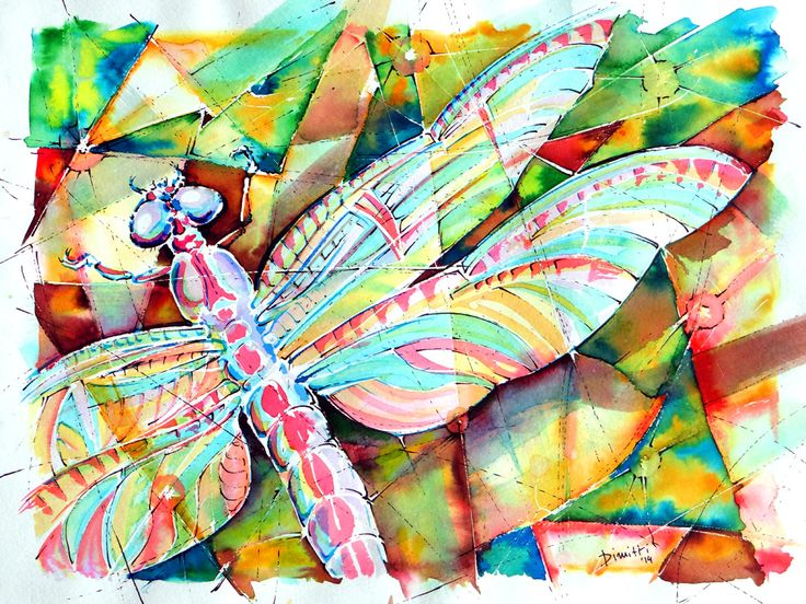 Dragonfly - watercolor