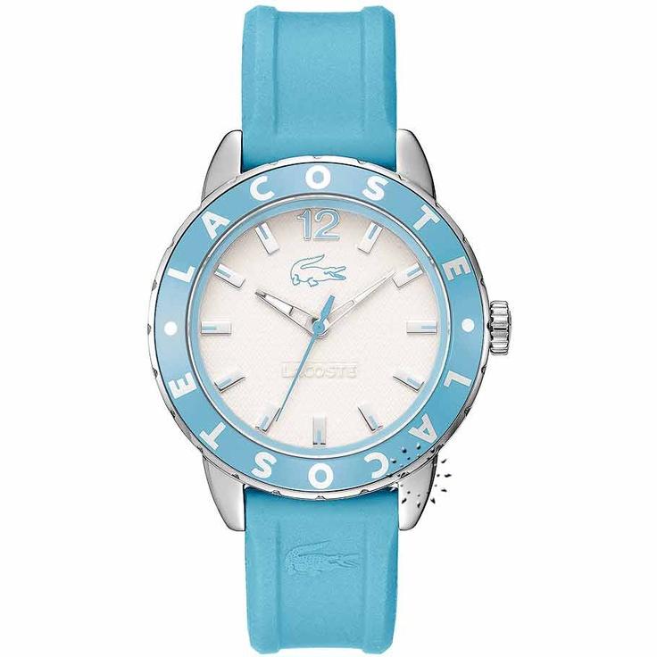 LACOSTE Rio Sportswear Light Blue Rubber Strap  105€  Αγοράστε το εδώ: http://www.oroloi.gr/product_info.php?products_id=20636