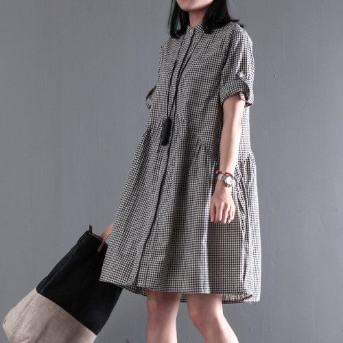 Black New cotton sundress plus size sundress casual loose summer dressesThis dress is made of cotton or linen fabric, soft and breathy, suitable for summer, so loose dresses to make you comfortable all the time.Measurement: Size M length 88cm / 34.32
