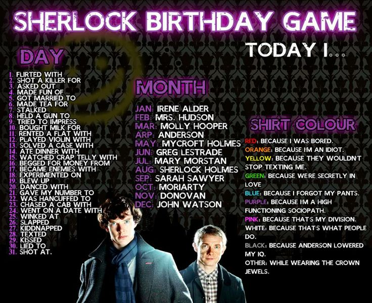 Went on a date with Sherlock Holmes while wearing the Crown Jewels>> Texted Mycroft because I forgot my pants