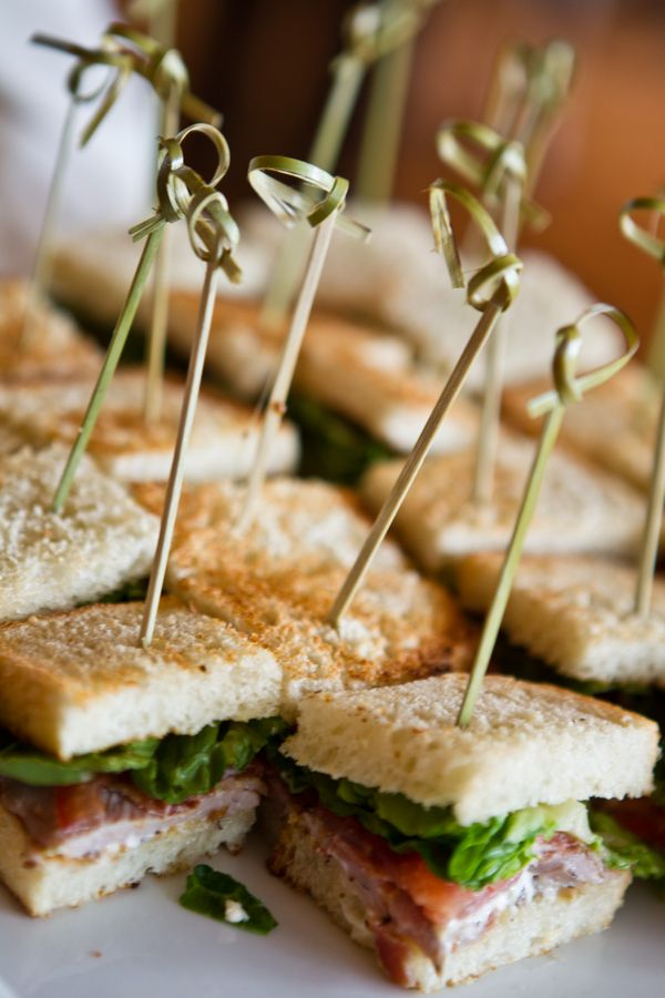 Mini sandwich passed hors d'oeuvres