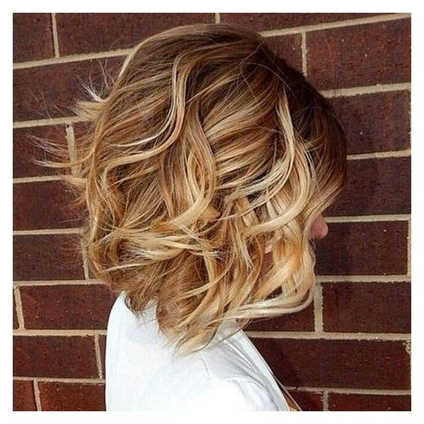 40 Best Short Hairstyles for Thick Hair 2017 - Short Haircuts for... ❤ liked on Polyvore featuring hair