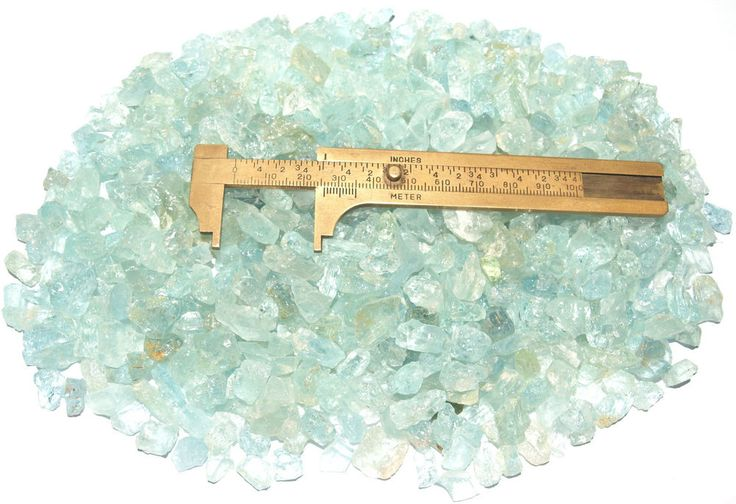 Aquamarine Crystals Rough up to 10mm 500 grams