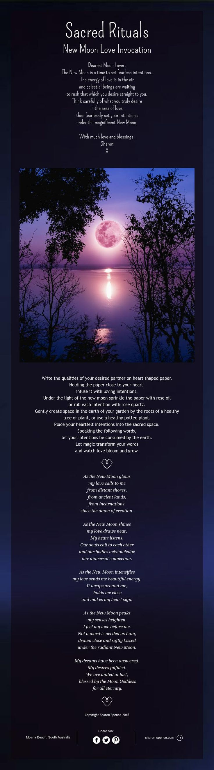 Sacred Rituals New Moon Love Invocation