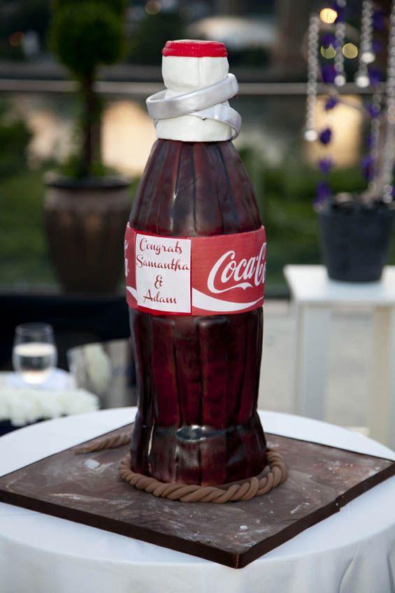 Coca-Cola bottle groom's cake!