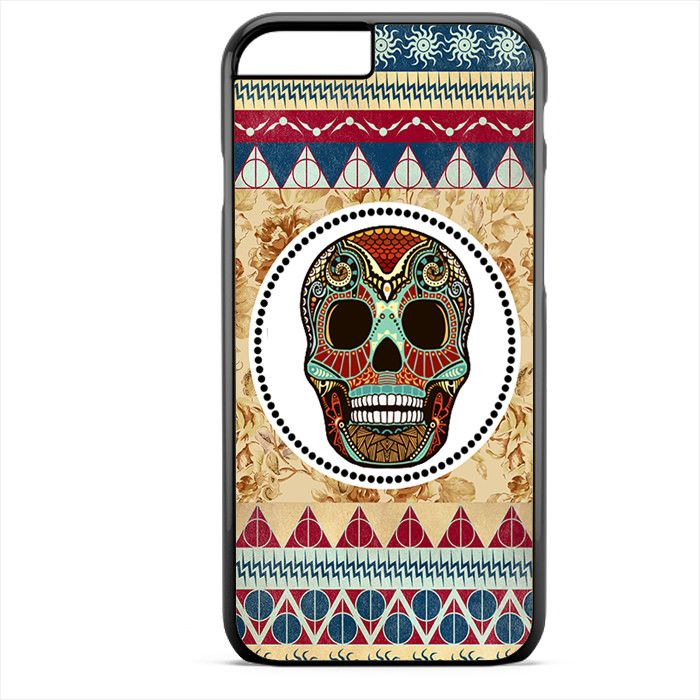 Aztec Skull Floral Background Phonecase For Iphone 4/4S Iphone 5/5S Iphone 5C Iphone 6 Iphone 6S Iphone 6 Plus Iphone 6S Plus