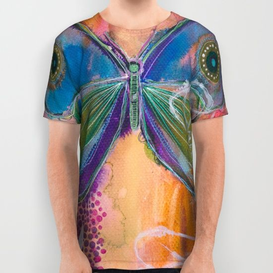Butterfly 'all over print' shirt by Asja Boros, $34